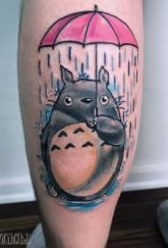 萌萌的9款可爱龙猫纹身图案作品