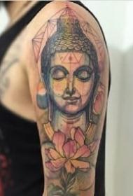 佛像纹身 好看的9款佛像主题的纹身作品图案