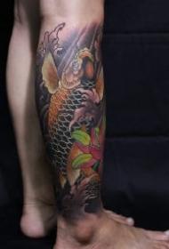 包小腿鲤鱼纹身 9款好看的包腿鲤鱼