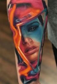 写实女郎纹身 欧美的9款彩色写实女郎人像纹身作品