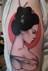 仕女纹身 艺妓仕女主题的9款纹身作品图案