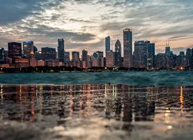 美国芝加哥城市风景壁纸图片