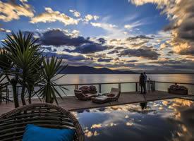 大理洱海日出风景图片