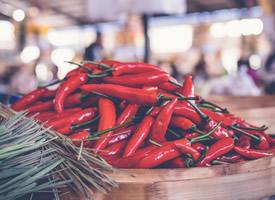 大红色的朝天椒图片