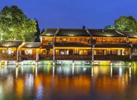 古色古香唯美的乌镇夜景高清图片