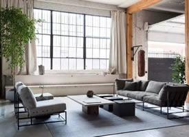 149㎡工业风Loft,水泥漆+格调家具