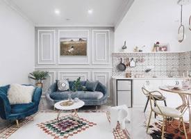 精致优雅的85平现代美式二居室