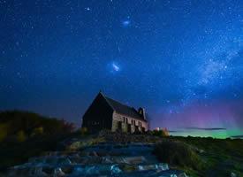 一组唯美的夜晚星空图片