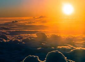 唯美的日出景观高清图片