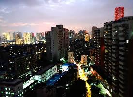 广州老城区真实夜景图片