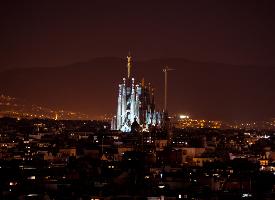 巴萨罗那的梦幻城市风光图片