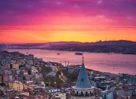伊斯坦布尔的晚霞