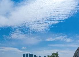 正午的蓝天白云图片