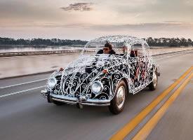镂空的大众甲壳虫,这个设计还挺漂亮