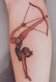 弓箭箭矢纹身 适合射手座的9款箭矢弓箭纹身图片