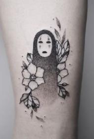 无脸鬼纹身 几款宫崎骏动画里的无脸男纹身作品
