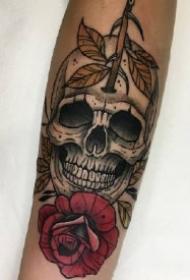 9款骷髅纹身作品:骷髅代表着死亡,也代表新的开始