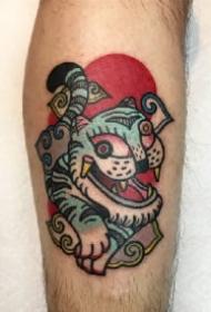 oldschool的趣味9款小老虎头纹身图片