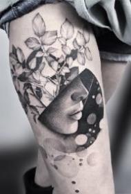 9款黑灰色的精美拼接纹身图片赏析