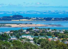 新西兰蓝海湾山水风景图片