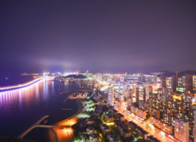 大连夜景实拍高清图片