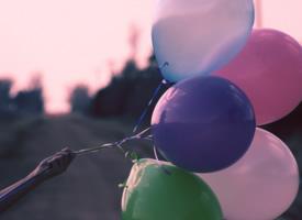 一组气球意境图片
