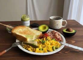 一组营养早餐搭配