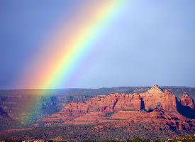 夏天好看的彩虹图片