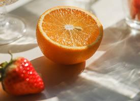 一组橘子光影美图片欣赏