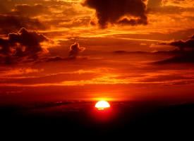 美丽的夕阳西下风景图片