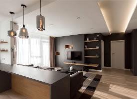 酷黑现代风格一居室