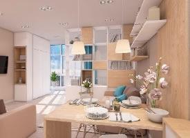 暖色系温馨小公寓