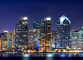 香港维多利亚港唯美夜景图片