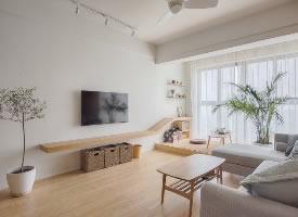 88平米日式原木家装,把家装出高级感