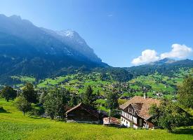 瑞士的格林德瓦尔自然风光