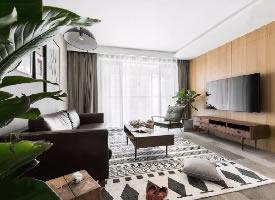 北欧原木风三居室装修设计,让生活回归自然本质