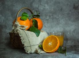 一组水分特别足的果冻橙