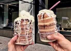 一组香甜丝滑的甜点图片
