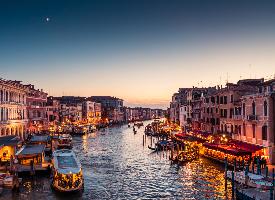 威尼斯唯美黄昏风景图片