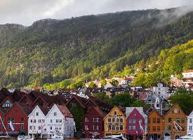 挪威小镇唯美风景图片