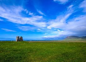 清新优美的草原风景图片