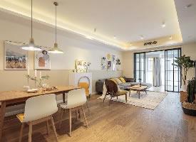108㎡北欧风三居室装修,玄关设计超温暖的