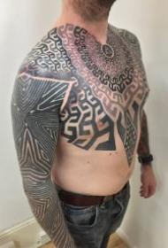 男士帅气的9款几何图腾纹身作品