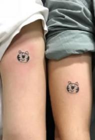 极简mini迷你的小情侣纹身图片