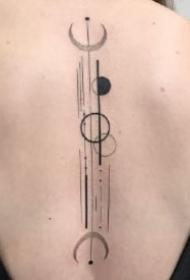 黑灰几何小清新的9款纹身作品