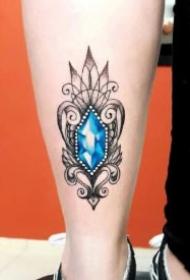 钻石纹身 9款钻石主题的纹身作品图片
