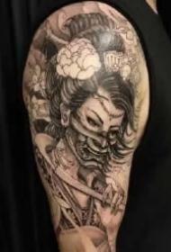 艺妓主题的包臂包腿9款纹身作品赏析