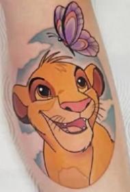 动画狮子王的一组卡通狮子纹身图片