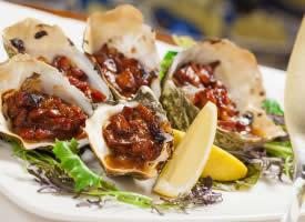 一组海鲜生蚝牡蛎图片