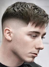 欧美男士渐变短发发型图片